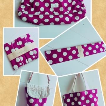 出産祝いセット 水玉(紫)