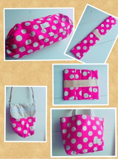 出産祝いセット 水玉(ピンク)
